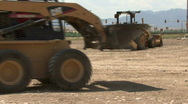 Small Front Loader  Stock Footage