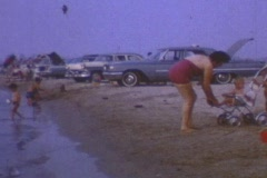 BEACHSIDE BABY 1963. Stock Footage