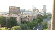 Denver Skyline On A Bright Day Stock Footage