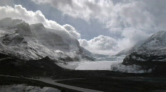 Athabasca Glacier WSsunny Stock Footage