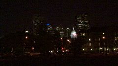 Denver Skyline At Night Arkistovideo