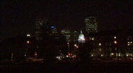 Denver Skyline At Night Stock Footage