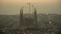 La Sagrada Familia, Barcelona, Spain Stock Footage