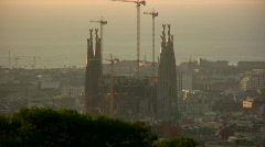 La Sagrada Familia, Barcelona, Spain Stock Footage