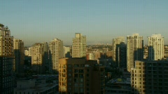 Vancouver sunset looking east over yaletown Stock Footage