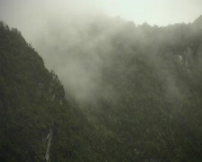 Rugged misty peaks in the Ecuadorian Andes Stock Footage