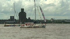 Clipper New York in Liverpool. July 6th 2008 Stock Footage
