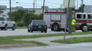 At A Car Accident  Stock Footage