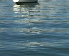 Yacht at anchor 1 Stock Footage