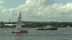 Clipper Singapore in Liverpool. July 6th 2008 Stock Footage