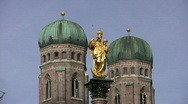 Stock Video Footage of Frauenkirche, Church of our Lady, Munich.