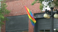 Stock Video Footage of Gay Pride Flag