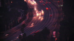 Freeway Traffic Time-lapse at Dusk Stock Footage