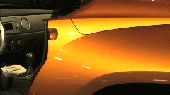 Golden Sport Car III Stock Footage
