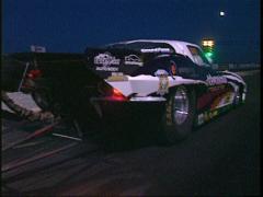 Motorsports, drag race,  Corvette launch night Stock Footage