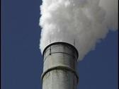 Industrial smokestack Stock Footage