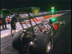 motorsports, drag racing, Super-comp rear engine dragster launch - stock footage