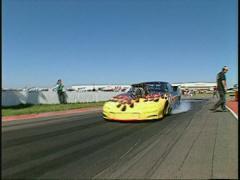 Motorsports, drag racing, Pro-mod burnout, drag racing Stock Footage