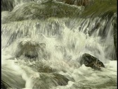 Stock Video Footage of Waterfall over the top