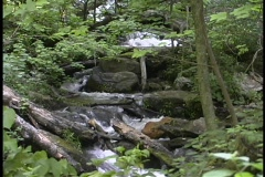 Waterfall over the top - stock footage