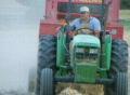 Farmer Baling Hay Footage