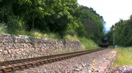 Stock Video Footage of Steam train in countryside