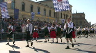 Germany Munich Oktoberfest parade Stock Footage