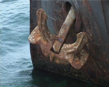 Rusty anchor Stock Footage