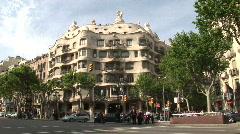 La Pedrera Gaudi building Stock Footage