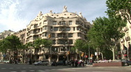 Stock Video Footage of La Pedrera Gaudi building