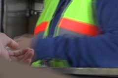 Toll booth Stock Footage