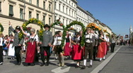 Stock Video Footage of Germany Munich Oktoberfest parade