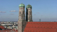 Germany Munich Church of our Lady Frauenkirche Stock Footage