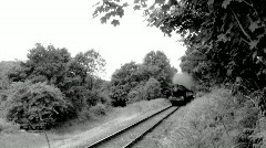 Steam train in countryside - stock footage