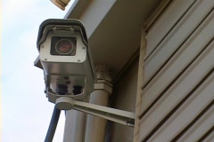 Mounted Security Camera Stock Footage