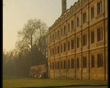 cambridge university - stock footage