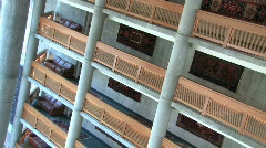 Resort balconies rugs down M HD Stock Footage