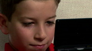Stock Video Footage of kid playing game