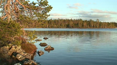Moraines in Finnish Lapland at sunset 4 - stock footage