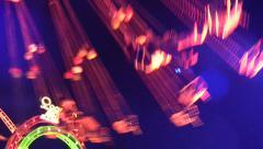 Germany Munich beer festival Oktoberfest fair Carousel at dusk Stock Footage