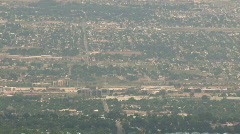 City valley from mountain M HD Stock Footage