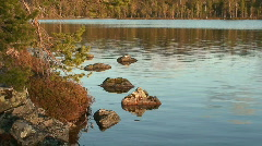 Moraines in Finnish Lapland at sunset 5  Stock Footage