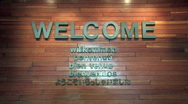 Welcome sign zoom in M HD Stock Footage