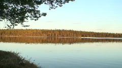 Silent sunset in Finnish Lapland 6  - stock footage