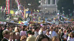 Germany Munich beer festival Oktoberfest crowded tourists Stock Footage