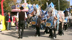 Germany Munich beer festival Oktoberfest horse-cart Stock Footage