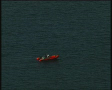Rubber dinghy Stock Footage
