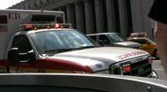 New York Ambulance At An Emergency Call Lights Flashing Stock Footage