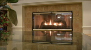 Stock Video Footage of Luxury Fireplace