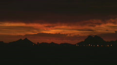 After sunset - red skies at night Stock Footage